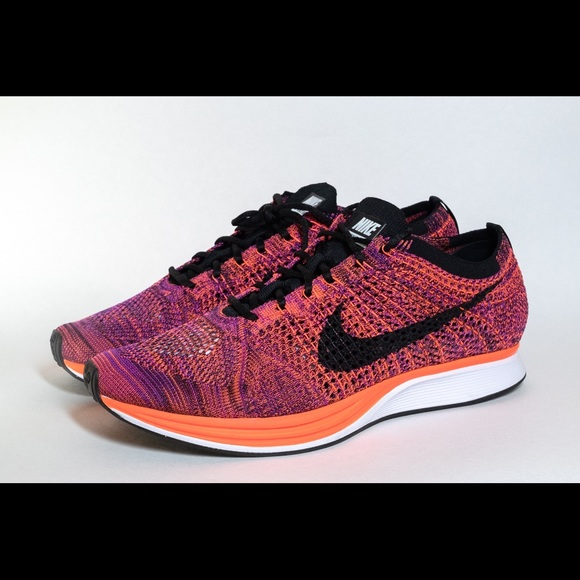 1c0f991e45234 usa nike flyknit racer sz 11 acai berry hyper orange 8be49 4f28a